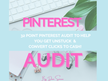 Offering online services: Pinterest Audit
