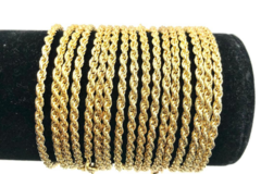 Buy Now: 50 Pcs  Rope Bracelets  14 kt Gold Plated - 7 1/2 inch