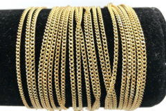 Buy Now: 50 Pcs Curb Chain Bracelets 14 kt Gold Plated - 7 1/4 inch