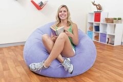 Buy Now: Lazy Inflatable Chair PVC Home Furniture – Soft Velvet Texture