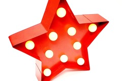 Buy Now: Battery Operated Tin Red Marquee LED Light Star