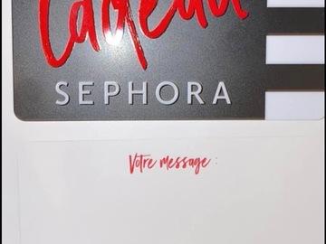 Vente: Carte cadeau Sephora (500€)