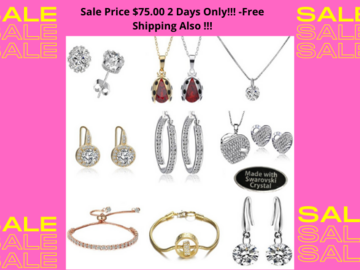 Buy Now: 25 Pcs Swarovski Elements Jewelry-Sale Price $75.00 2 Days Only!!