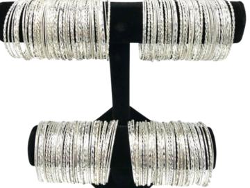 Buy Now: 200 Diamond Cut Bangle Bracelets -w Free Display ONLY .39 CENTS