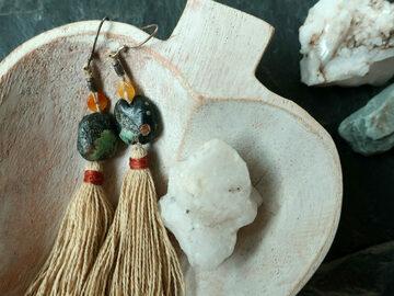 : Turquoise Tassel Earring