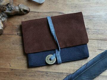 : Leather & Cotton Pouch
