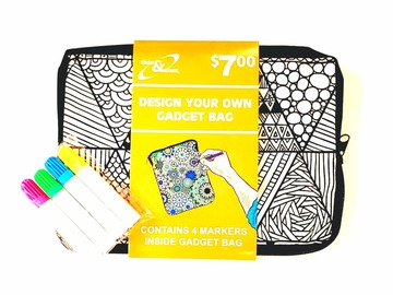 Buy Now: Kids Color Your Own Gadget Bag (Markers Included) – Pre-Priced $7