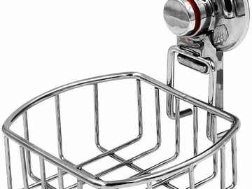 Buy Now: ESYLIFE Vacuum Suction Cup Shower Soap Dish Holder, Chrome Finish