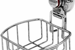 Compra Ahora: ESYLIFE Vacuum Suction Cup Shower Soap Dish Holder, Chrome Finish