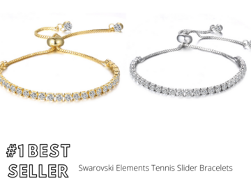 Buy Now: 12 pieces Swarovski Elements Tennis Slider Bracelets