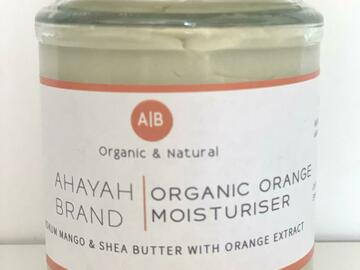 For Sale: Organic Orange Moisturiser by Ahayah Brand (Small)