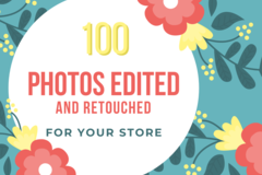 Offering online services: Product Photo Editing Package
