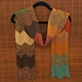 Selling with online payment: Crochet Woman's Scarf - Chevron/Retro