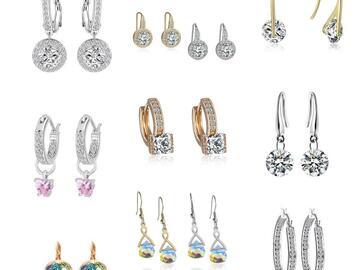 Liquidation/Wholesale Lot: 12 pair Swarovski Elements Jewelry Earrings
