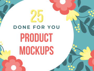 Offering online services: 25 Digital Mockups - Done For You!