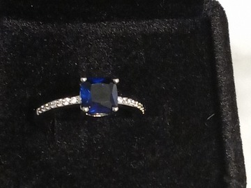 Make An Offer: Gem stone genuine sterling silver gold plated ring