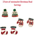 Buy Now: 12 Cards with 3 Pairs of Christmas earrings. Total of 36 Earrings