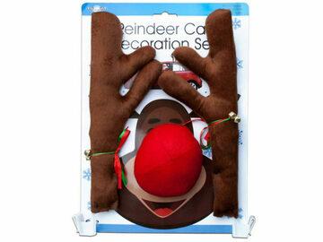 Buy Now: Reindeer Holiday Car Decoration Set
