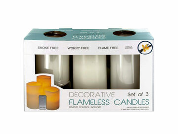 Buy Now: Flameless Vanilla Candles with Remote Control