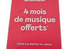 Vente: Carte Deezer Premium - 4 mois de musique (40€)
