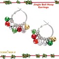 Buy Now: 12 Pairs of Jingle bell Hoops Christmas Earrings. Liquidation