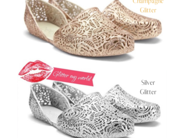 Liquidation/Wholesale Lot: 144 Pairs of Glitter Loafers. New. Both colors included $2.5 Each