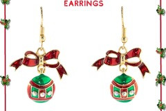 Buy Now: 12 Pairs of Christmas green ornament earrings. $1 Each Pair
