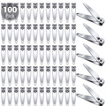 Liquidation/Wholesale Lot: 100 Pc Stainless Steel Fingernail Clippers