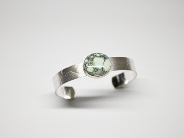 Selling: Shattered Cuff – Sterling and Calypso Variscite