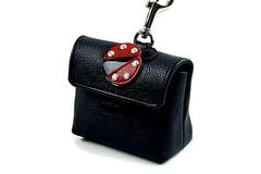 Selling: Leather Ladybug Poop Bag Dispenser