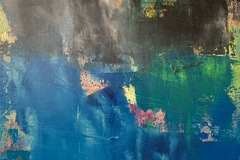 Selling with online payment: City Rain, abstract, original