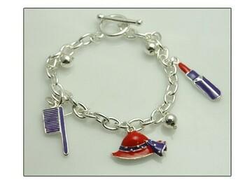 Liquidation/Wholesale Lot: 25 pcs-- Red Hat Ladies Bracelets-- 3 styles-- $2.00 each