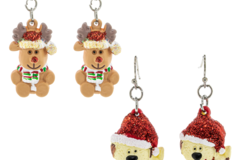 Buy Now: 24 Pairs of Christmas Earrings. $0.75 Each