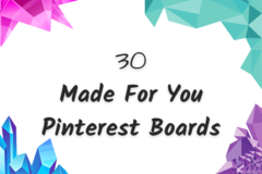 Offering online services: 30 Made For You Pinterest Boards