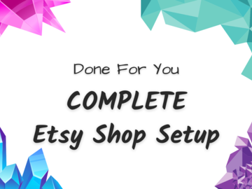 Offering online services: Set Up Your Etsy Shop