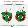 Buy Now: 12 Pairs of handmade Wreath Christmas earrings.