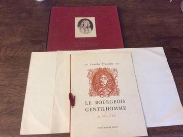 Vente: Coffret Le bourgeois gentilhomme de Molière Edition 1955