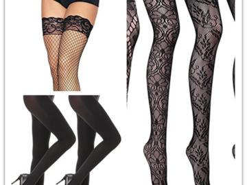 Liquidation/Wholesale Lot: Ladies' Assorted Fashion Socks & Stockings