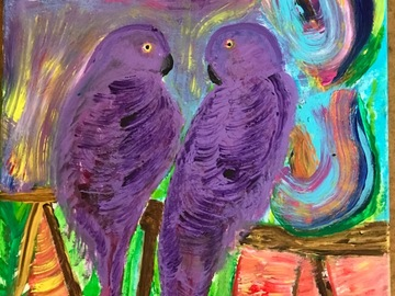 Selling with online payment: Purple parrots