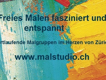 Workshop offering (hourly basis):  Faszination freies Malen