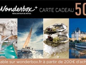 Vente: Bon de réduction Wonderbox (50€)