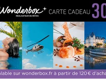 Vente: Bon de réduction Wonderbox (30€)