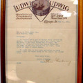 Show Off Your Drums! (no sales): ULTRA RARE 1916 Theobald Ludwig signature on letterhead