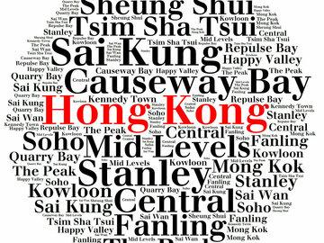 : Hong Kong Word Art