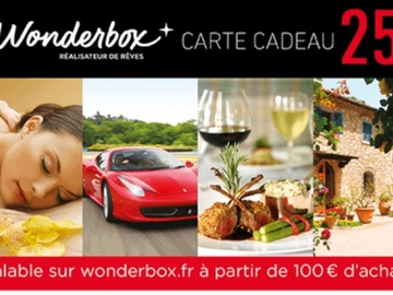 Vente: Bon de réduction Wonderbox (25€)