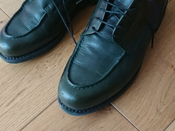 Online payment: Paraboots Chambord green derby shoes 8,5 F