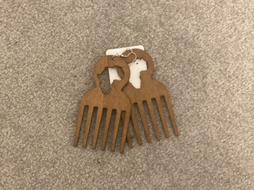 For Sale: Brown comb earrings