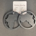 For Sale: Round Africa black earrings