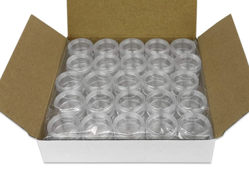 Buy Now: 200 Round Clear jars with Screw Caps 5G/5ML (BPA Free)