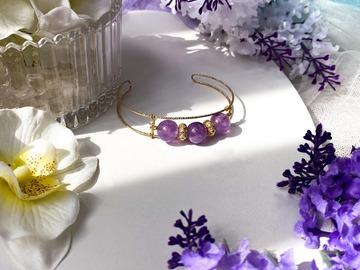 : Phoibe Lilac Amethyst Cuff Bracelet